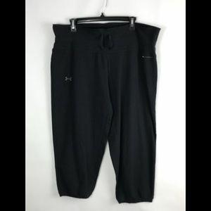 Under Armour Capri Black Yoga Workout Pants XL